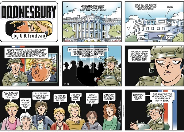 Doonesbury - Sunday March 29, 2020 Comic Strip