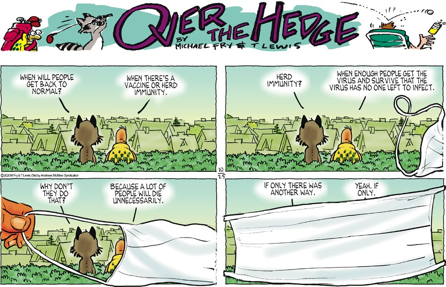 Over the Hedge Comic Strip for October 25, 2020