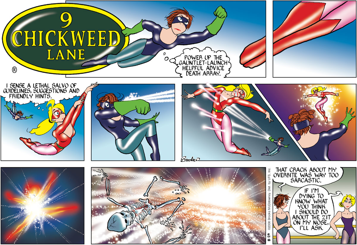 9 Chickweed Lane Comic Strip for August 24, 2008