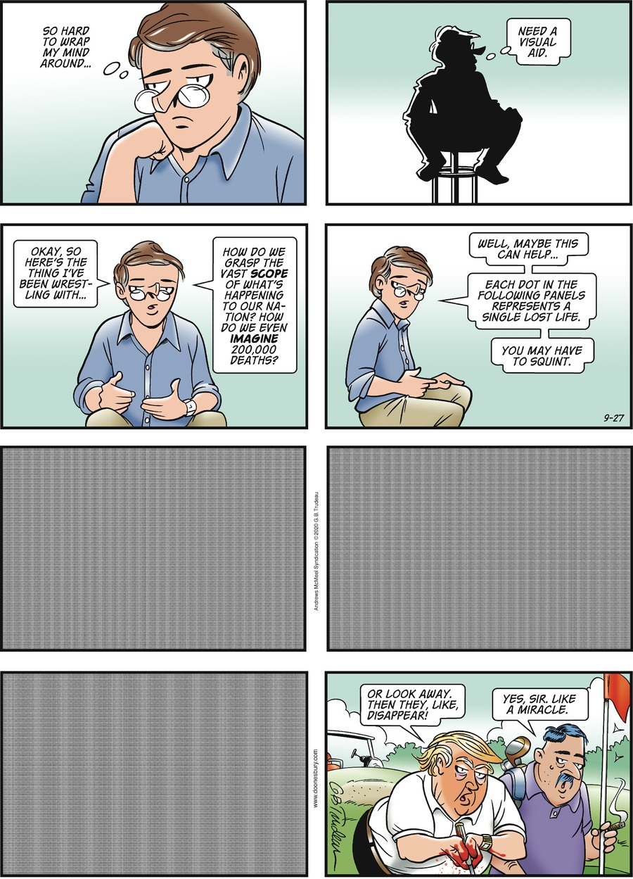 Doonesbury Comic Strip for September 27, 2020