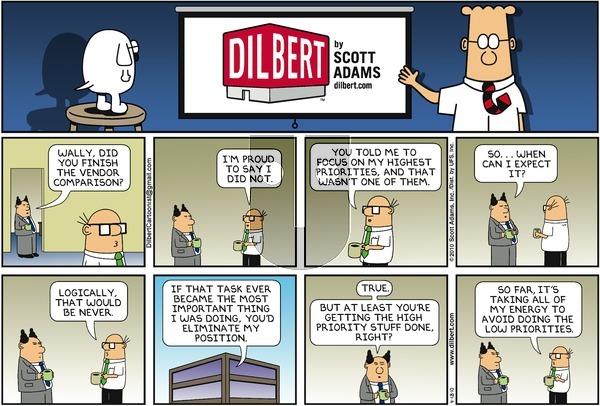 Dilbert on Sunday April 18, 2010 Comic Strip