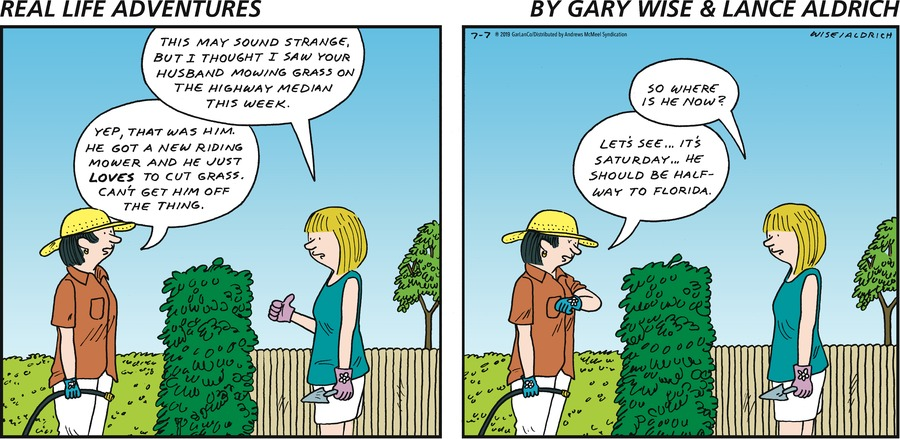 Real Life Adventures Comic Strip for July 07, 2019