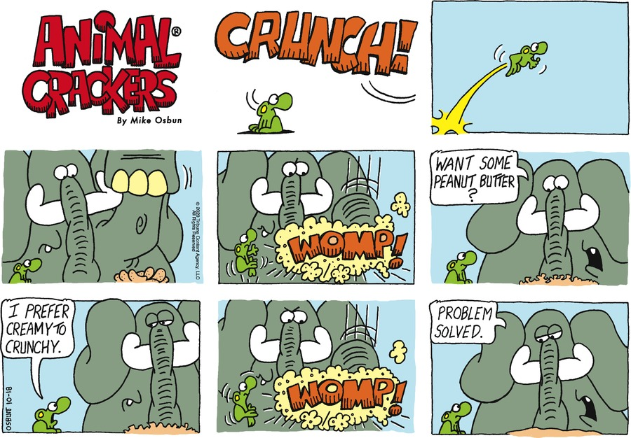 Animal Crackers Comic Strip for October 18, 2020