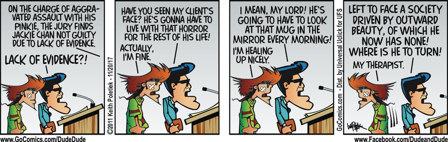 Dude and Dude for Nov 20, 2017 Comic Strip