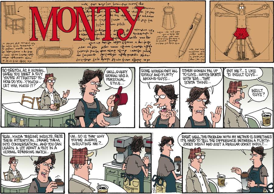 Monty for Dec 2, 2012 Comic Strip