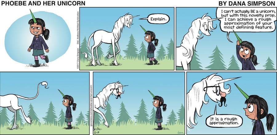 Phoebe and Her Unicorn Comic Strip for February 19, 2017