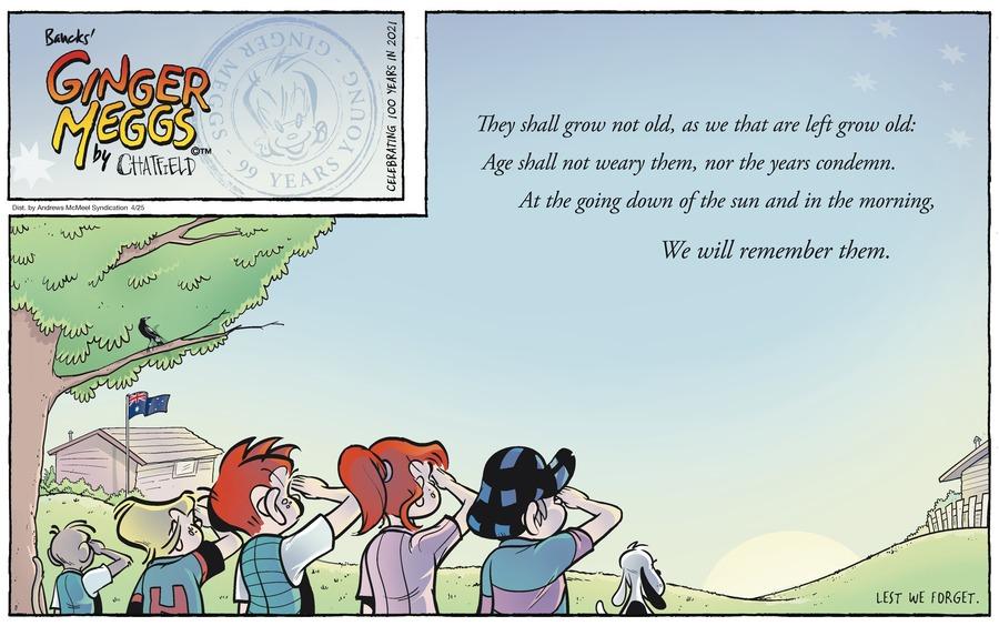 Ginger Meggs Comic Strip for April 25, 2021