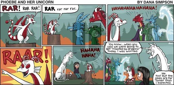 Phoebe and Her Unicorn - Sunday November 10, 2019 Comic Strip
