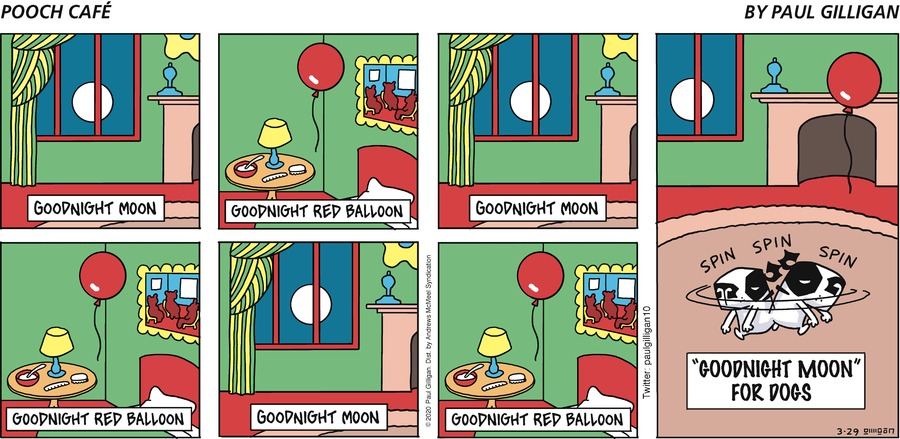 Pooch Cafe Comic Strip for March 29, 2020