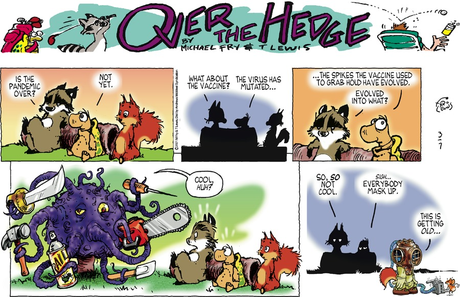 Over the Hedge Comic Strip for March 07, 2021