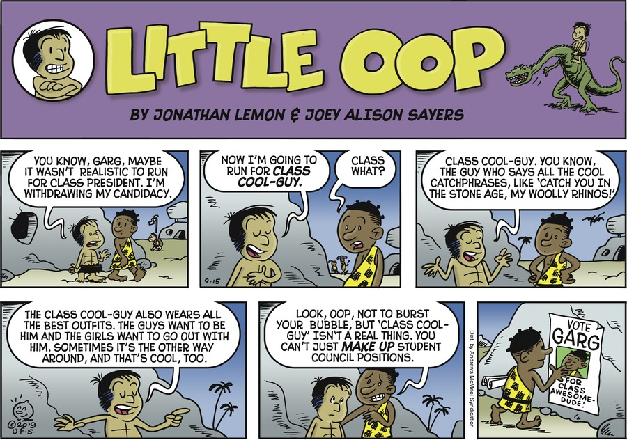 Alley Oop by Jonathan Lemon and Joey Alison Sayers for September 15, 2019