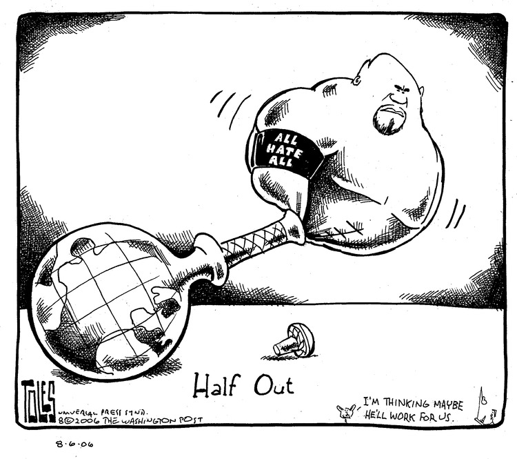 Tom Toles Comic Strip for August 06, 2006