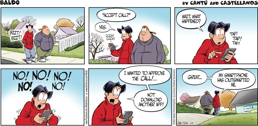 Baldo Comic Strip for January 17, 2021