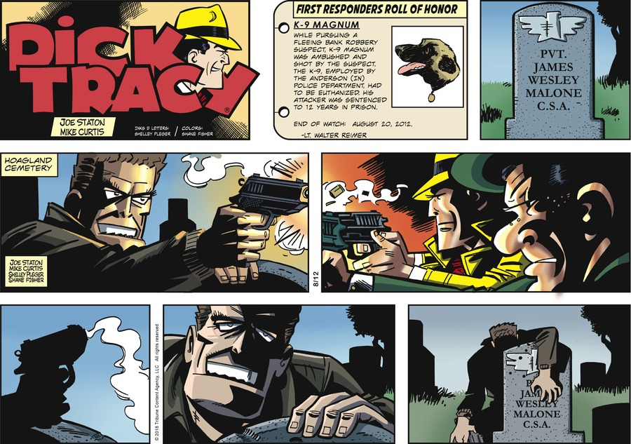 Dick Tracy Comic Strip for August 12, 2018