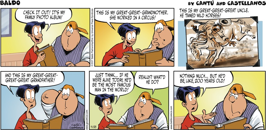 Baldo Comic Strip for November 25, 2007