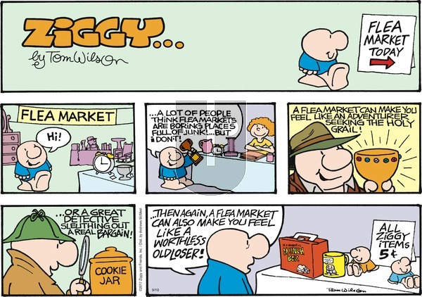 Ziggy on Sunday September 10, 2017 Comic Strip