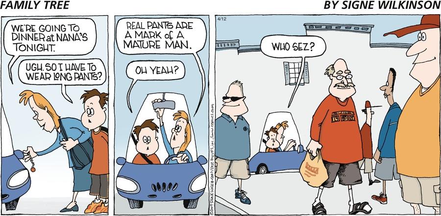 Family Tree Comic Strip for April 12, 2009