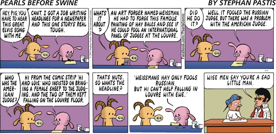 Pearls Before Swine Comic Strip for September 13, 2015