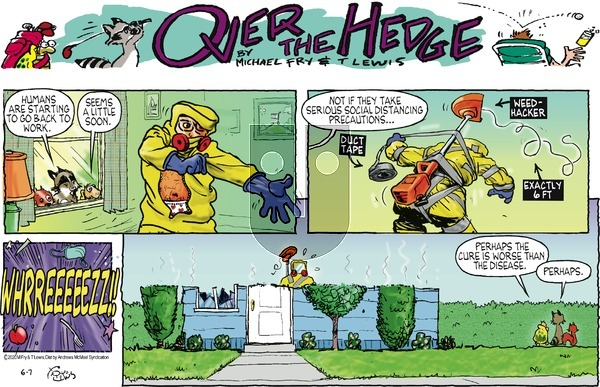Over the Hedge - Sunday June 7, 2020 Comic Strip