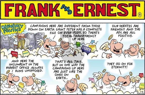 Frank and Ernest on Sunday November 6, 2016 Comic Strip