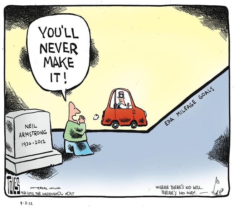 Man: You'll never make it!