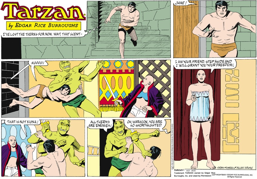 Tarzan Comic Strip for April 21, 2019