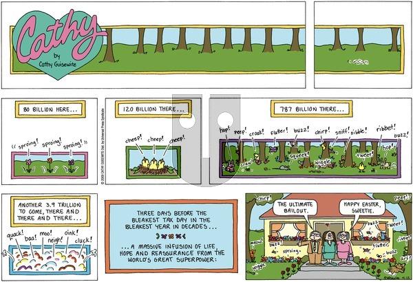 Cathy on Sunday April 12, 2009 Comic Strip