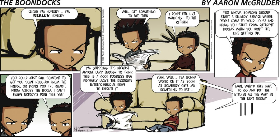 The Boondocks Comic Strip for May 19, 2002