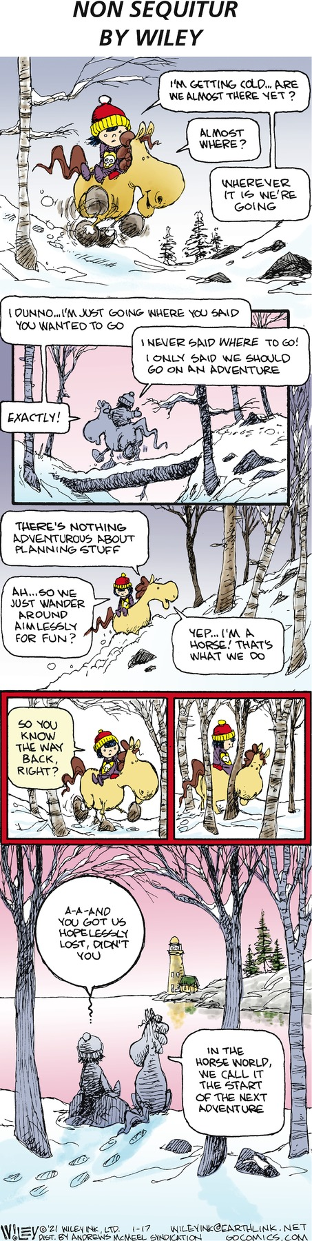 Non Sequitur Comic Strip for January 17, 2021