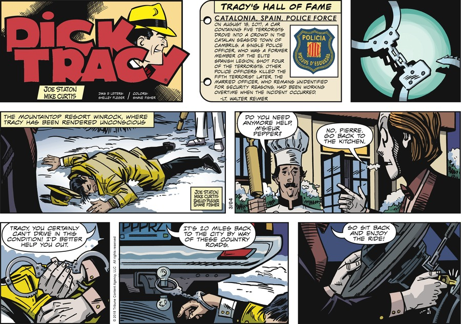 Dick Tracy Comic Strip for March 04, 2018