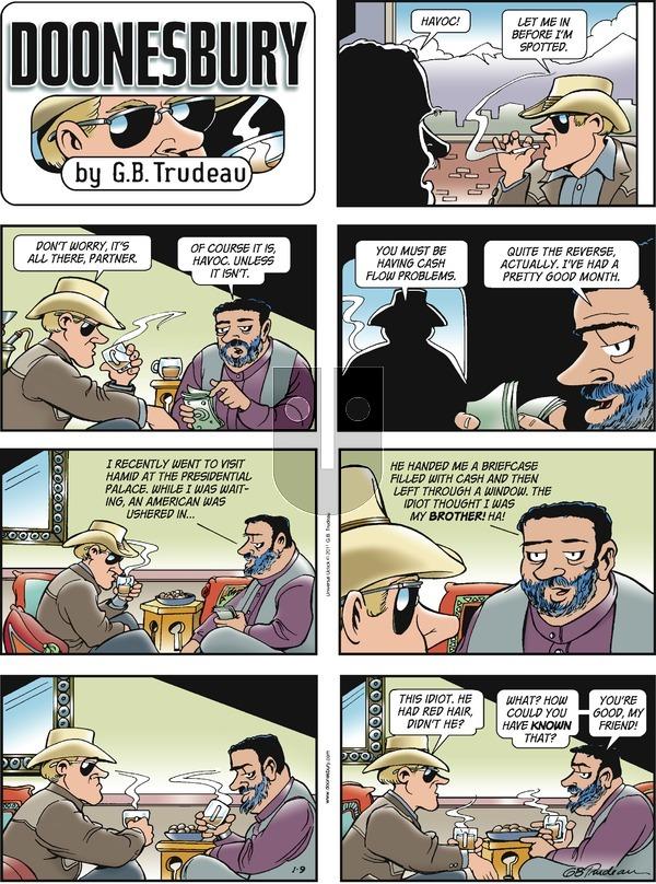 Doonesbury on Sunday January 9, 2011 Comic Strip