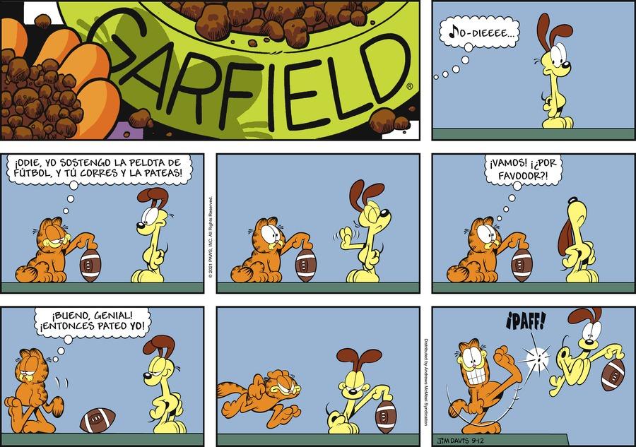 Garfield en Español Comic Strip for September 12, 2021
