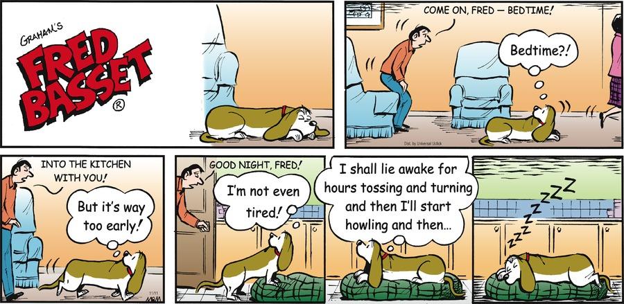 Fred Basset for Nov 11, 2012 Comic Strip