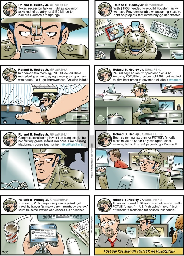 Doonesbury on Sunday November 26, 2017 Comic Strip