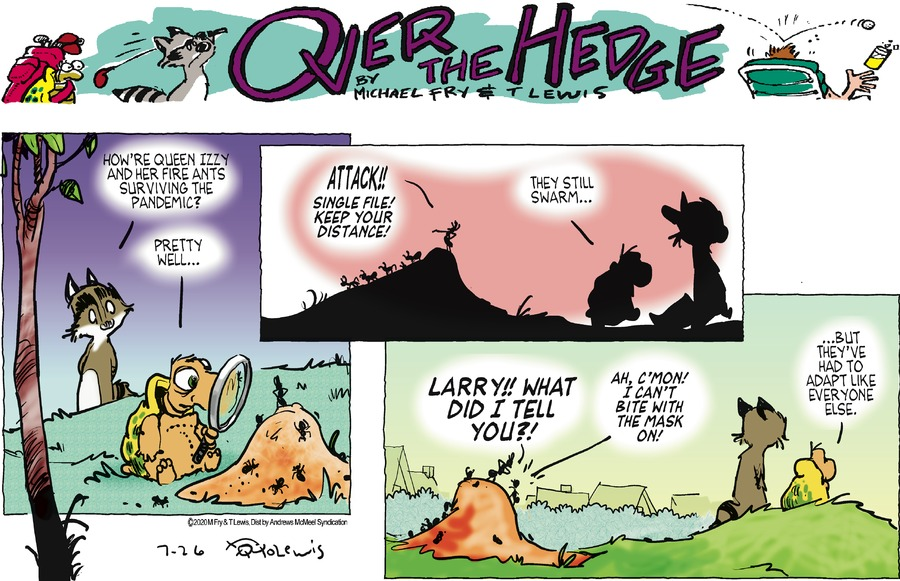 Over the Hedge Comic Strip for July 26, 2020
