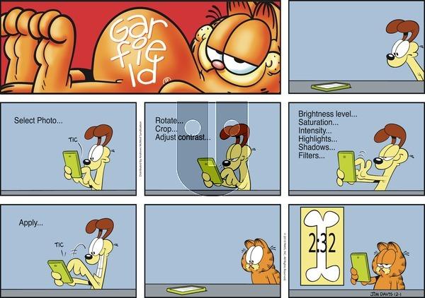 Garfield - Sunday December 1, 2019 Comic Strip