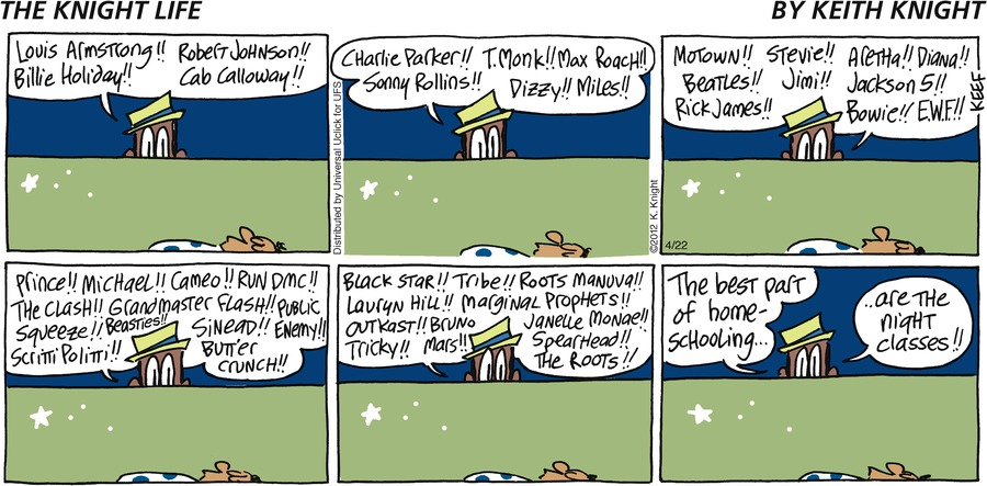 The Knight Life Comic Strip for April 22, 2012
