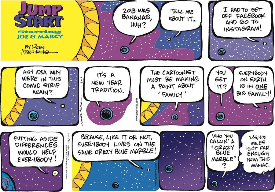 JumpStart for Jan 5, 2014 Comic Strip