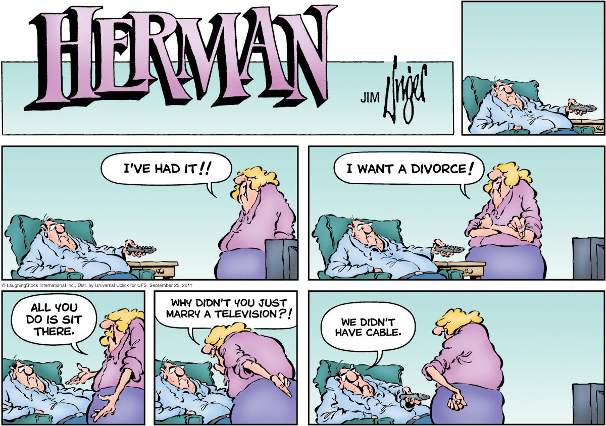 Herman for Sep 25, 2011 Comic Strip