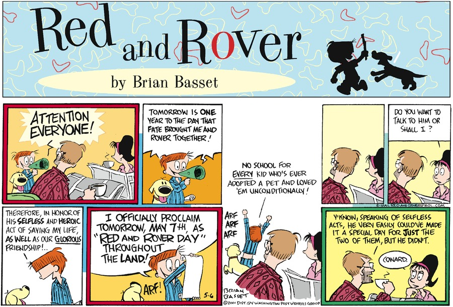 Red and Rover for May 6, 2001 Comic Strip