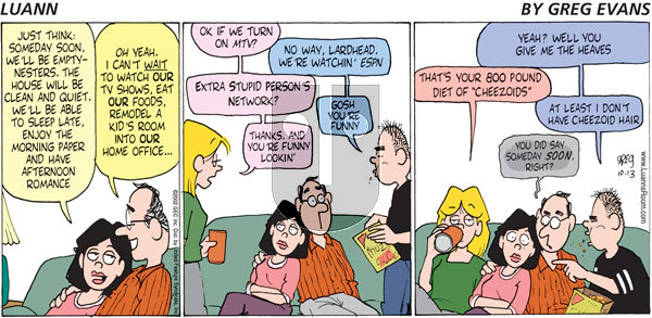 Luann on Sunday October 13, 2002 Comic Strip