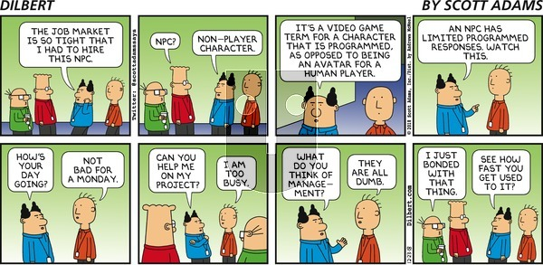Dilbert on Sunday December 23, 2018 Comic Strip