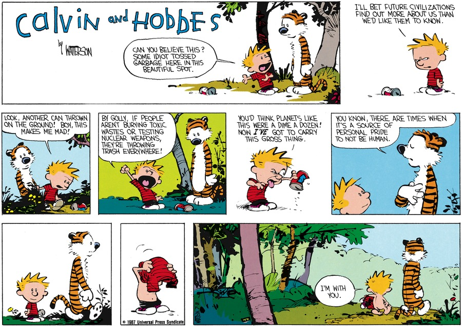Calvin and Hobbes Comic Strip for July 26, 1987