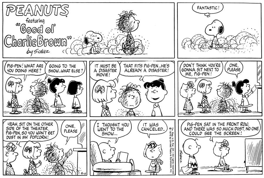 Peanuts Comic Strip for April 11, 1976
