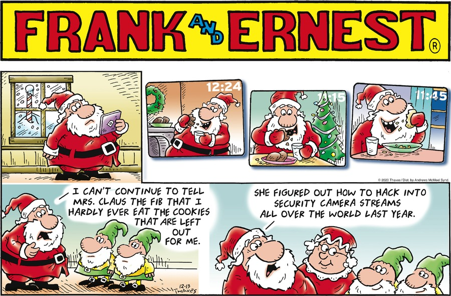 Frank and Ernest Comic Strip for December 13, 2020