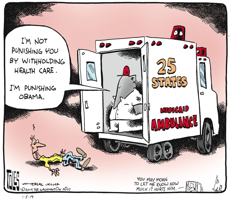 EMT/Republican: I'm not punishing you by withholding health care. I'm punishing Obama