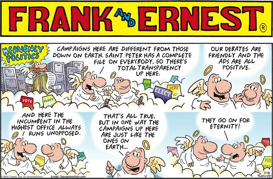 Frank and Ernest for Nov 6, 2016 Comic Strip