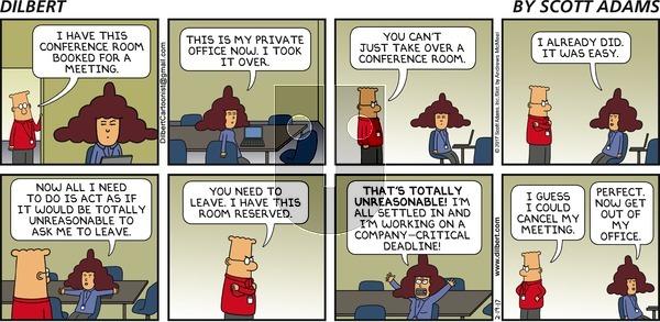 Dilbert on Sunday February 19, 2017 Comic Strip