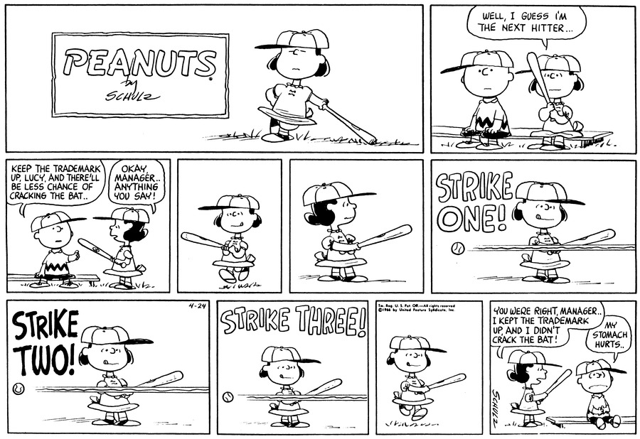 Peanuts Comic Strip for April 24, 1966