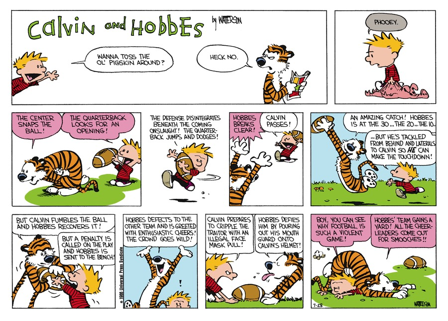 Calvin and Hobbes Comic Strip for August 24, 1986